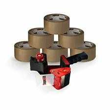 More details for heavy-duty packing tape gun dispenser with 6 strong rolls of 52 microns