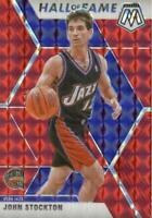 2019-20 Panini Mosaic Hall of Fame Red Prizm John Stockton #293 HOF Utah Jazz