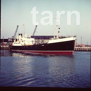 60 x 60 glass slide Ship c1950s Rennes r7