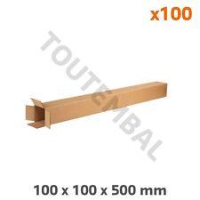 Tube carton postal de base carrée 100 x 100 x 500 mm (par 100)