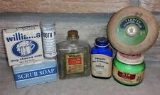 Vintage Mens/Shaving Collectibles Lot Williams Aqua Velva Tooth Powder Yardley+