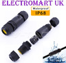WATERPROOF OUTDOOR GARDEN POND CABLE WIRE CONNECTOR JOINER 2 OR 3 CORE IP68 16A