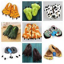 Winter Home Cartoon Cotton Plush Slippers Women Indoor animals Warm big foot
