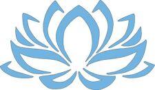 Lotus Flower Ice Blue 547 Die Cut Vinyl Window Decal/Sticker for Car/Truck