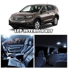 For 12-16 Honda CRV CR-V SUV LED Interior Kit Xenon Light + Sun Visor LED WHITE
