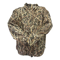 Mossy Oak Waterproof Hunting Parka Jacket | Shadow Grass Blades Camouflage Deer
