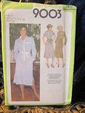 Vintage Simplicity Pattern 9003 for Women's Shirtdress  Sizes 40 to 46 Uncut
