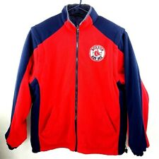 Boston Red Sox Fleece Jacket Men's Reversible Red & Blue Removable Sleeves LG