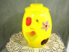 VINTAGE BARTLETT COLLINS COOKIE JAR YELLOW FRUITS FLOWERS