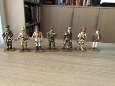 del prado toy soldiers Figures  WWII British And French Bundle X7