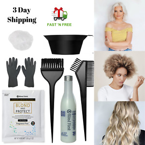 DIY  8+ Level Hair Bleach Lightening Kit Combo -40 Vol Developer & 3 PCS Set