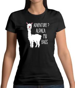 Adventure? Alpaca My Bags Womens T-Shirt - Funny - Joke