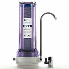 Countertop Ultra Drinking Water Filter For VOCs Cysts Pesticides Chlorine, Clear