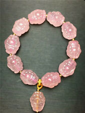 Natural Rose Quartz Madagascar Pink Crystal Beads Bracelet AAAA+