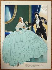 Dessin original illustration érotique de RANSON aquarelle ART DECO vers 1925