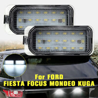 2pcs 18LED Licence Number Light No Error For Ford Fiesta Focus C-Max Kuga Mondeo