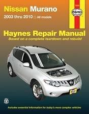 Nissan Murano 2003-2010 Service Repair Manual shop book Owners 04 05 06 07 08 09