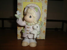 Precious Moments THE FUTURE IS IN OUR HANDS Girl with Lamb & Bird 2000 730068