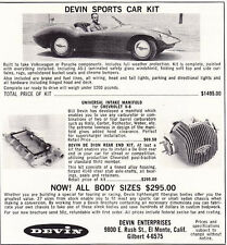 1960 DEVIN KIT SPORTS CAR  ~  ORIGINAL SMALLER PRINT AD