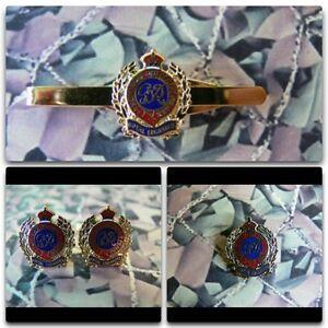 Royal Engineers Kings Crown Lapel / Cuff Links / Tie Bar Gift Set RE