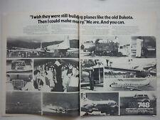 12/1978 PUB BRITISH AEROSPACE HS 748 AIRLINER GUYANA THAI VARIG AIRWAYS DC-9 AD