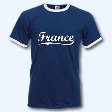T-Shirt Retro-Shirt, WM Frankreich France, Ringer T