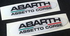 2 Adesivi Resinati Sticker 3D LOGO ABARTH ASSETTO CORSE