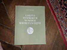 Corpus nummorum Numidiae mauritaniaeque, Mazard, AMG, 1955. ( Numismatique ).