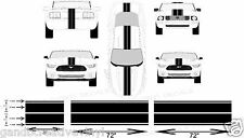"11"" x 6 Piece Set Racing Stripe Vinyl Decal For Cars Trucks Autos"