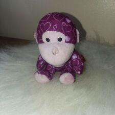Build a Bear Little Marble Sweetheart Monkey Chimp Purple Pink Miniature 2012