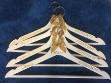 Set of 6 Personalised Wedding Prom Dress Hangers Bridal Party Bride Bridesmaid