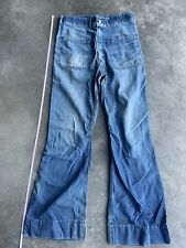 Used Vintage U.S. Navy Ship Blue Denim Dungarees Seafarer Work Jeans Pants 32x30
