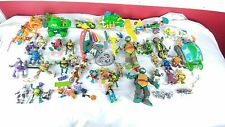 Massive Lot Of Teenage Mutant Ninja Turtles  Weapons Vehicles Vintage RARE
