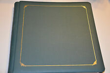 Creative Memories 12x12 Green Linen Album with 14 white pages