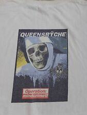 QUEENSRYCHE Operation Mindcrime II T-SHIRT Mens XXL White 2-Sided Tour cd lp 2XL