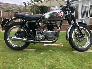 TRIBSA 1954 BSA A7 frame with a 1956 Triumph speed twin 500t engine