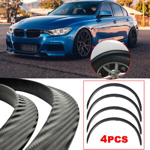 4x Carbon Fiber Car Fender Flare Extension Wheel Eyebrow Arch Trim Protector Lip