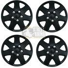 "Rover Tourer 15"" Stylish Black Tempest Wheel Cover Hub Caps x4"