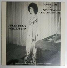 Susan Duer Fortepiano A Program of Eighteenth Century Sonatas LP