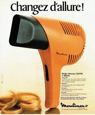 PUBLICITE ADVERTISING 0217  1978   le sèche-cheveux Moulinex