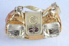 Rocawear Womens Gold Sequins Purse bag