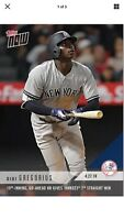 2018 Topps NOW MLB 137 Didi Gregorius 10th-Inning, Go-Ahead HR 7th Straight Win