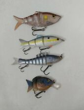 (4) Jointed Swimbait Crankbait Fishing Lures Lot of 4