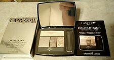 NEW LANCOME Color Design Eyeshadow Palette (Full Size) Chocolate Amande NIB $50