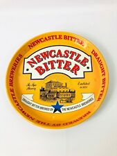 """Newcastle Bitter 12"""" Round Metal Serving Advertising Beer Tray"""