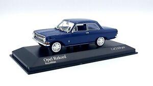 OPEL  REKORD  A  1963  -  ROYAL BLUE  -   MINICHAMPS  - 1/43