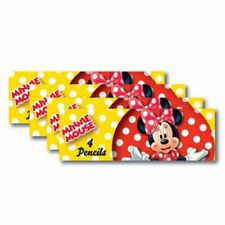 8 Packs Disney Minnie Mouse Rosso a Pois Festa Regalini 4 Matita Set