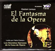 El Fantasma De la Opera / The Phantom of the Opera (Spanish) 3 Audio CDs - NEW