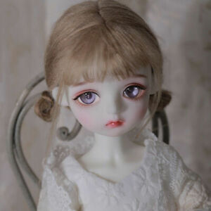 1/6 BJD SD Dolls Baby Girl Resin Ball Jointed Doll +Eyes + Face Make up Wig SET