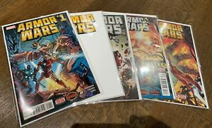 ARMOR WARS (2015) #1-5 (complete run) NM and Blank Variant #1